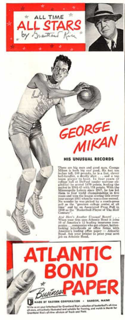 Atlantic Bond Paper George Mikan Basketball (1953)