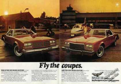 Buick Century Fly the Coupes Large Color (1976)