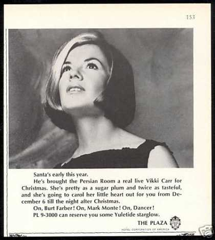 Vikki Carr NYC New York Plaza Hotel (1967)