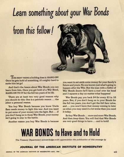 U. S. Treasury Dept.'s War Bonds – Learn Something About Your War Bonds From This Fellow (1944)
