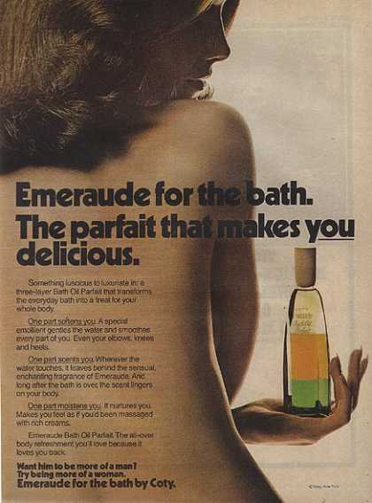 Coty's Emeraude Bath Oil Parfait (1972)