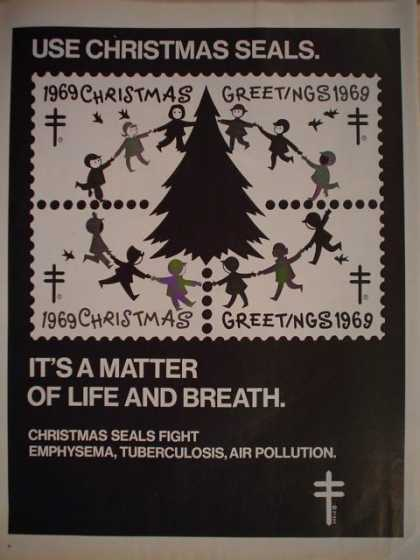 USA Christmas Seals Fight Emphysema Tuberculosis (1969)