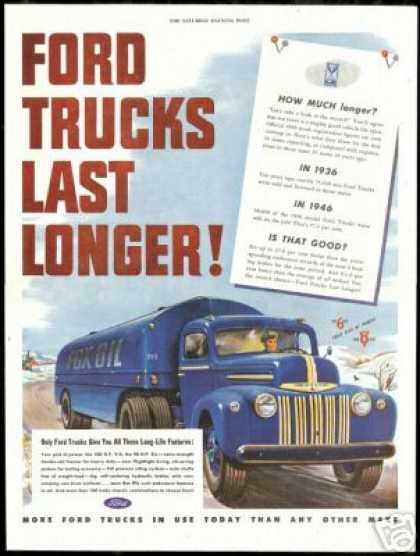 Ford Tank Truck Fox Oil Vintage (1947)