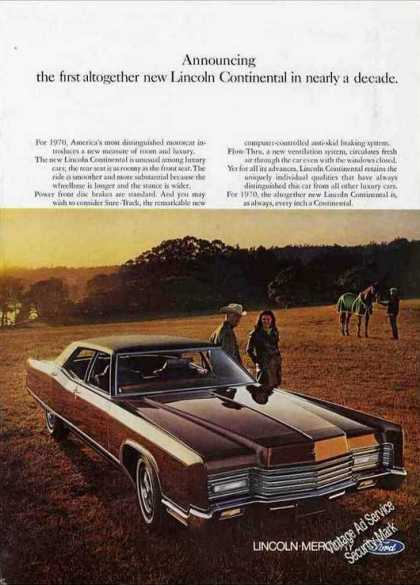 "Lincoln Continental ""First Altogether New"" (1970)"