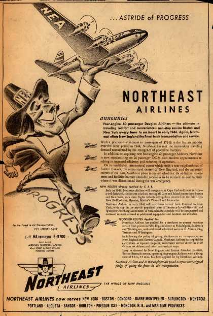 Northeast Airlines – ...Astride of Progress (1945)