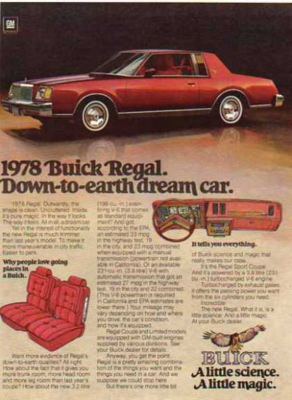 Buick Car – Regal – Sold (1978)