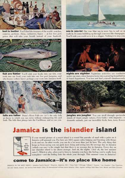 Tia Maria Jamaica Falls Jungle Fish Sail (1960)