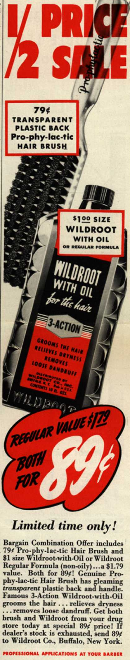 Wildroot Company's Wildroot Bargain Combination Offer – 1/2 Price Sale (1941)