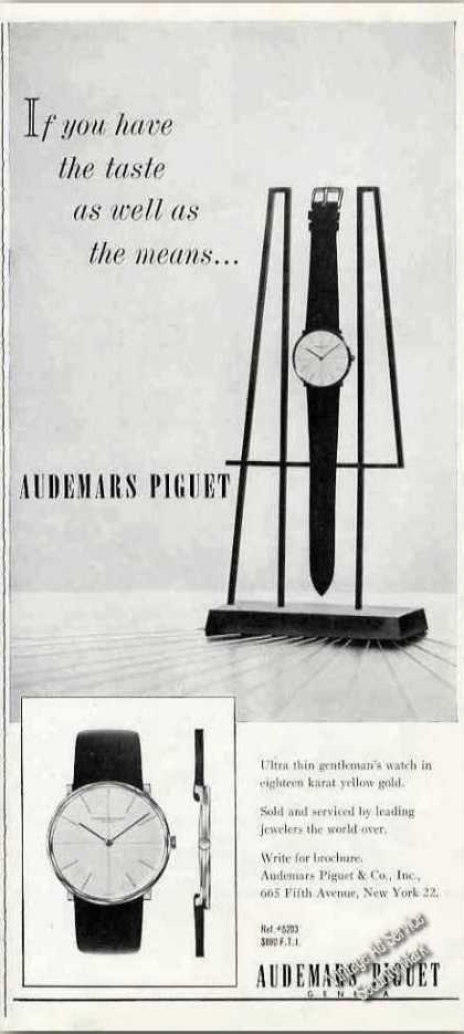 "Audemars Piguet ""If U Have Taste & Means"" Watch (1963)"