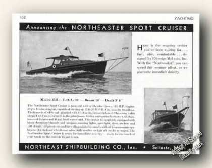 Northeaster Sport Cruiser Photo Scituate Ma (1947)
