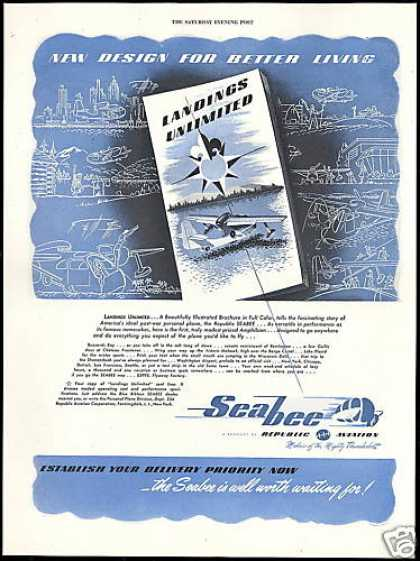 SeaBee Airplane Landings Republic Aviation (1946)