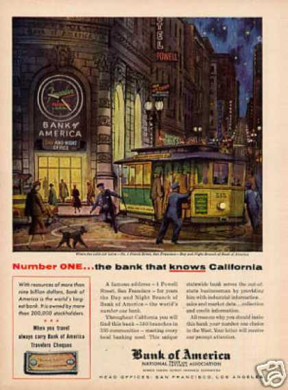 Bank of America Ad Cable Car (1956)