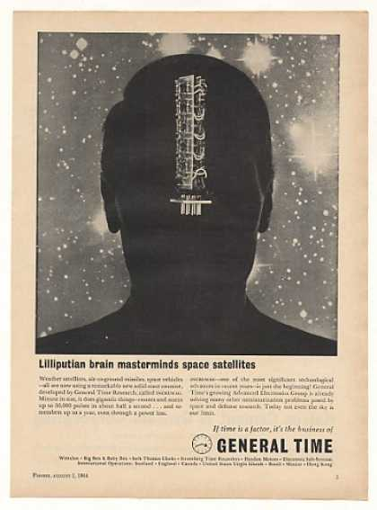 General Time Incremag Space Satellite Counter (1964)