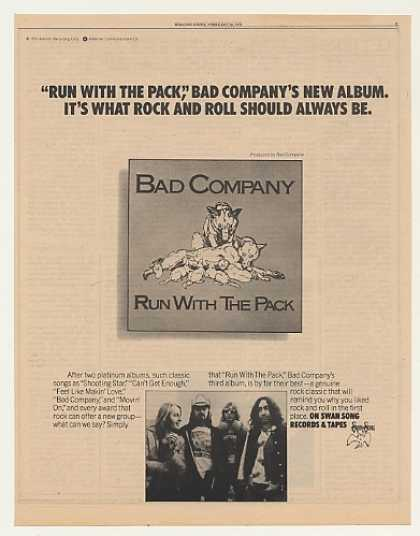Bad Company Run With The Pack Swan Song (1976)