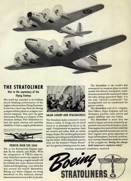 Boeing Aircraft Company's Stratoliners – The Stratoliner (1940)