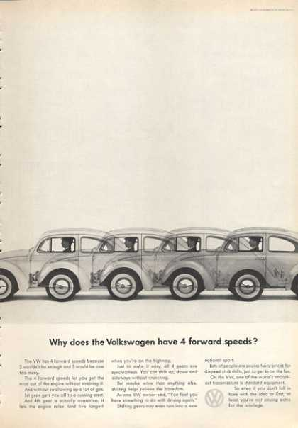 Vw Volkswagen Why 4 Forward Speeds? (1963)