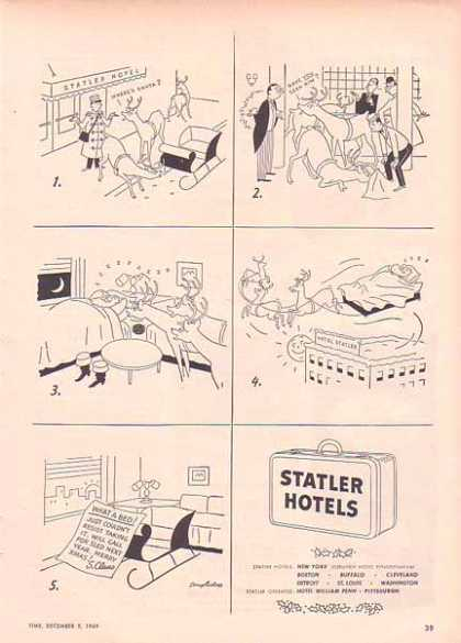 Slater Hotels Comic Christmas – Where's Santa (1949)
