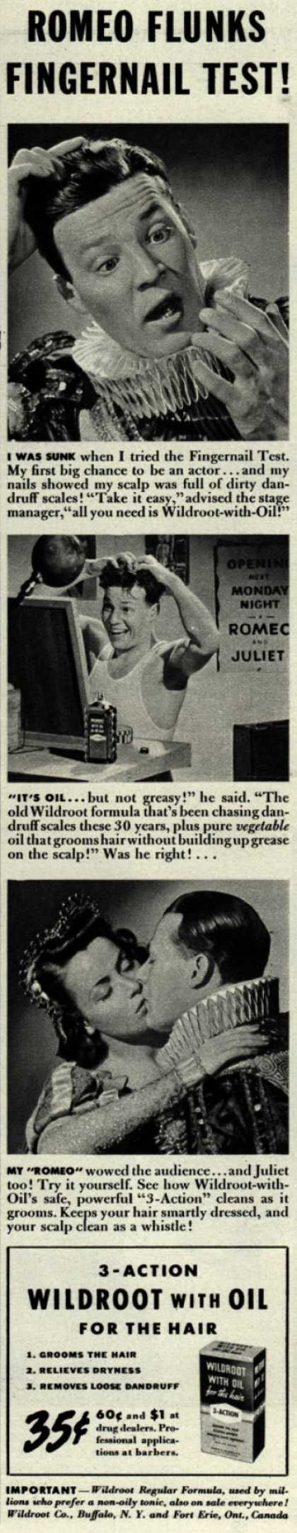 Wildroot Company's Wildroot with Oil – Romeo Flunks Fingernail Test (1940)