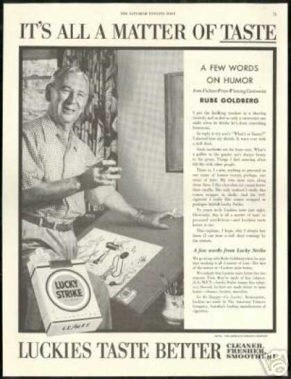 Rube Goldberg Photo Pulitzer LS Cigarette (1954)