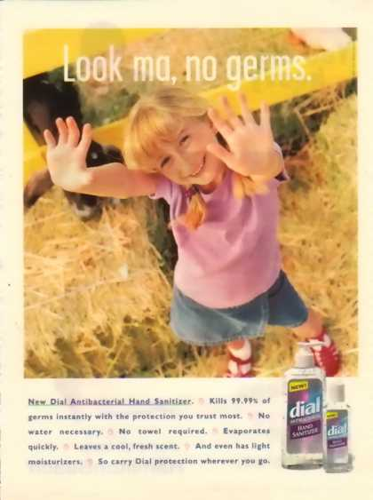 Dial Hand Soap – Kids In Advertising – Look Ma, no germs (1997)