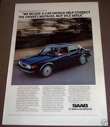 Blue Saab Car Auto Original (1975)