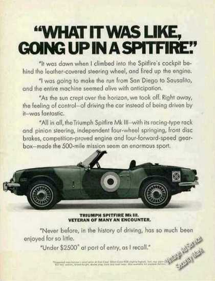 "Triumph Spitfire Mk Iii ""What Was It Like"" Car (1970)"