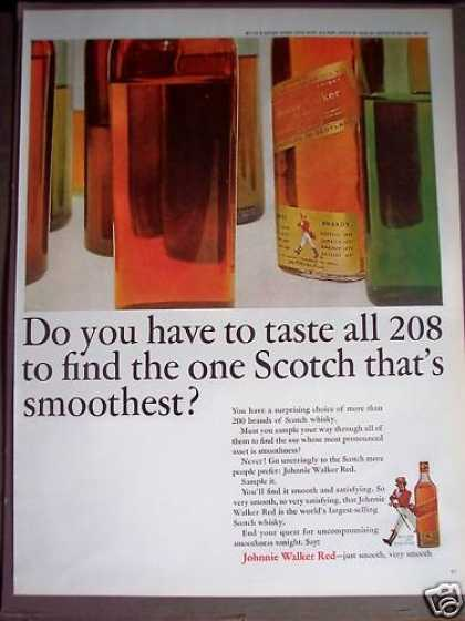 Johnnie Walker Red Scotch Whisky – Very Smooth (1963)