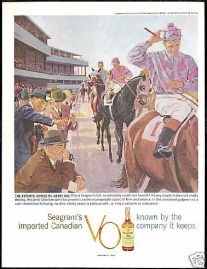 Horse Race Track Derby Seagram's VO Whisky (1959)