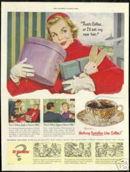 Pan American Coffee Pretty Woman Hat Box (1951)