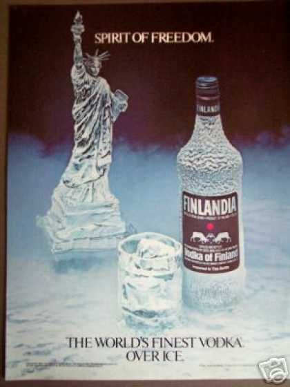 Statue of Liberty Ice Carving Finlandia Vodka (1985)