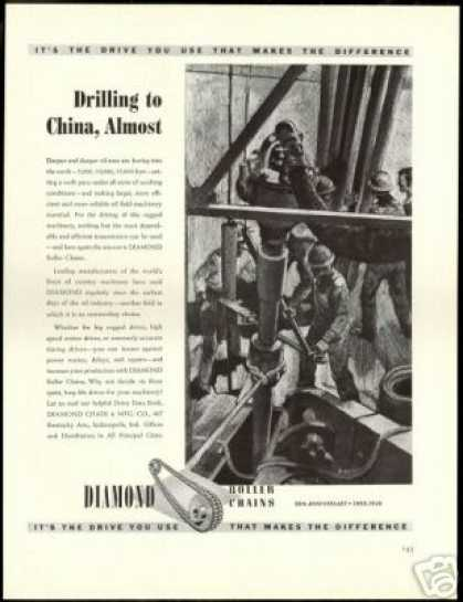 Oil Well Drilling Art Diamond Roller Chains (1940)