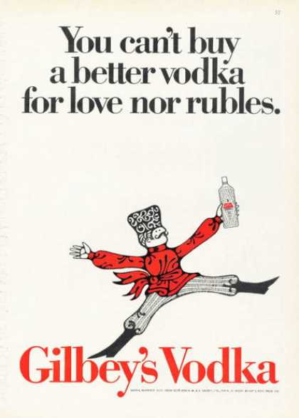 Gilbey's Vodka Bottle (1968)