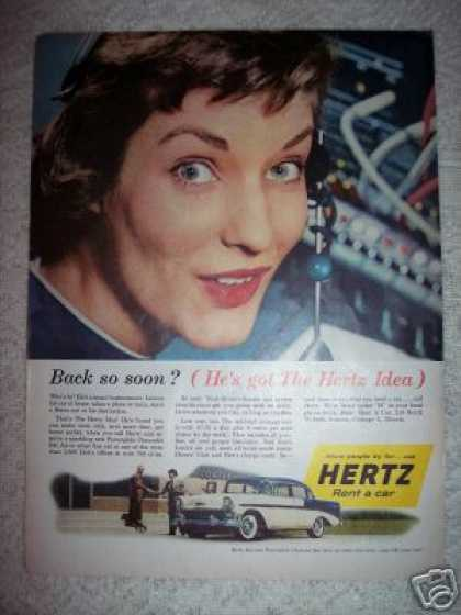 Hertz Rent a Car Chevrolet Bel Air Original (1956)