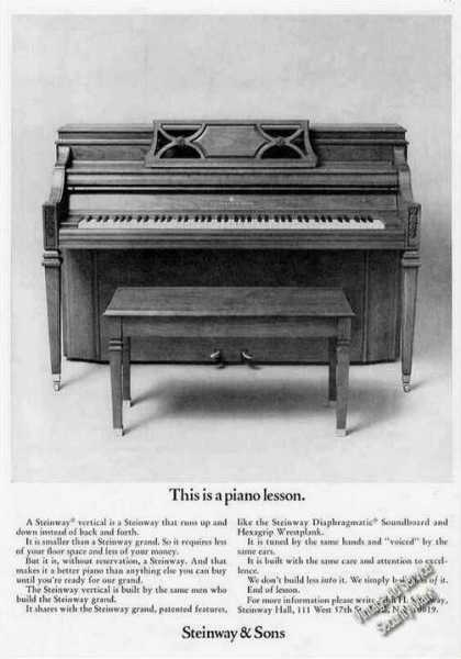 "Steinway Upright Piano ""This Is a Piano Lesson"" (1974)"