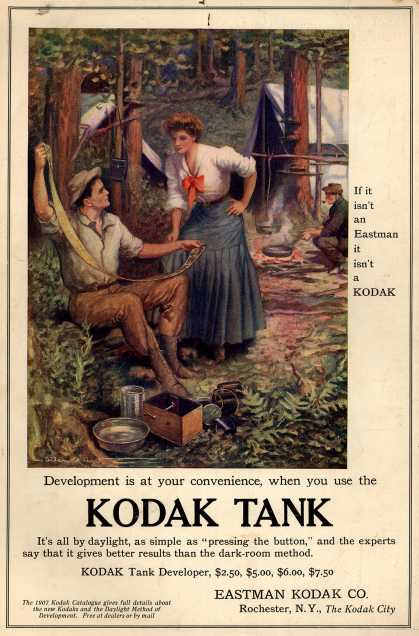 Kodak – Development is at your convenience, when you use the Kodak Tank (1907)