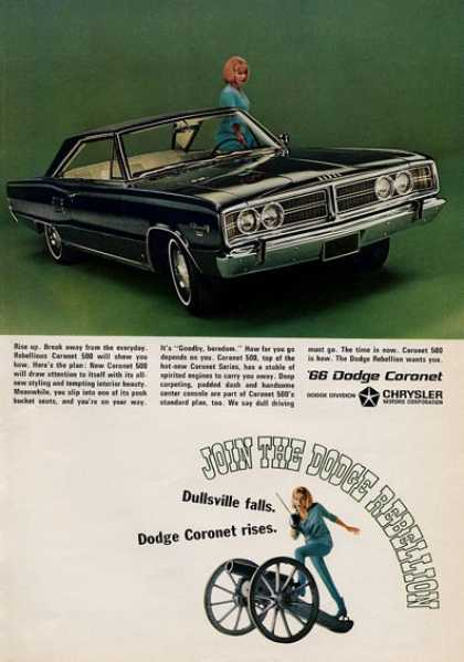 Dodge Coronet Rebellion- Dullsville Falls (1965)
