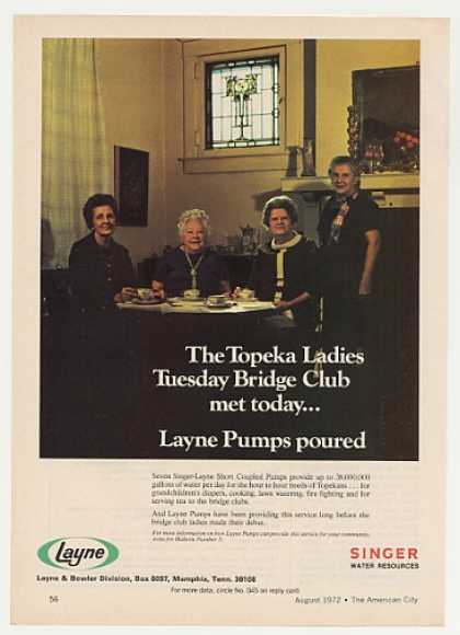 Topeka Ladies Tuesday Bridge Club Layne Pumps (1972)