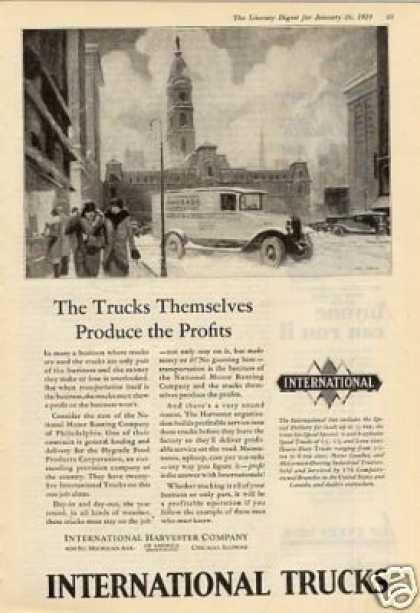 "International Trucks Ad ""The Trucks Themselves... (1929)"