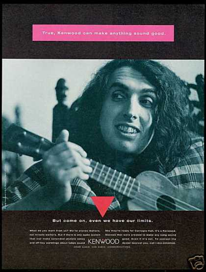 Tiny Tim Ukelele Photo Kenwood Audio Stereo (1994)