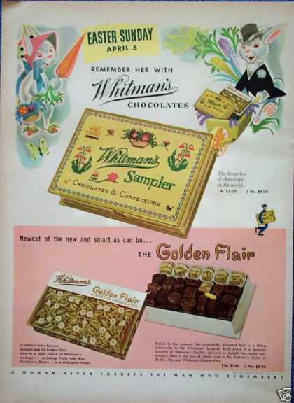 Whitmans Chocolates Easter Rabbits Bunny Dress Up (1953)