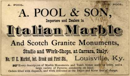 A. Pool & Son's Italian Marble and Scotch Granite Monuments – A. Pool & Son, Importers and Dealers in Italian Marble and Scotch Granite Monuments