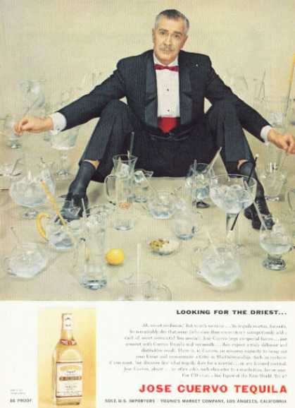 Jose Cuervo Tequila Ad Looking for Driest Martini (1958)