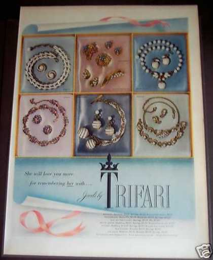 Trifari Jewels Necklaces Bracelet (1954)