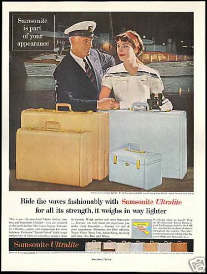 Samsonite Ultralite Luggage Asst Colors (1958)