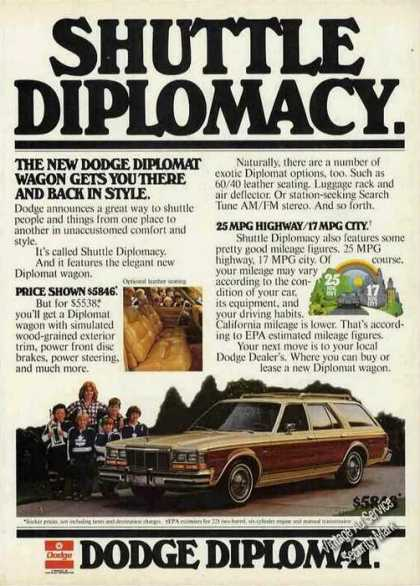 Dodge Diplomat Wagon Shuttle Diplomacy (1978)