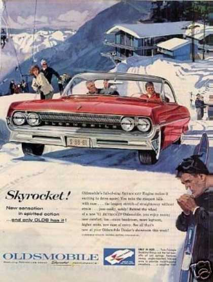 "Oldsmobile Car Ad ""Skyrocket... (1961)"