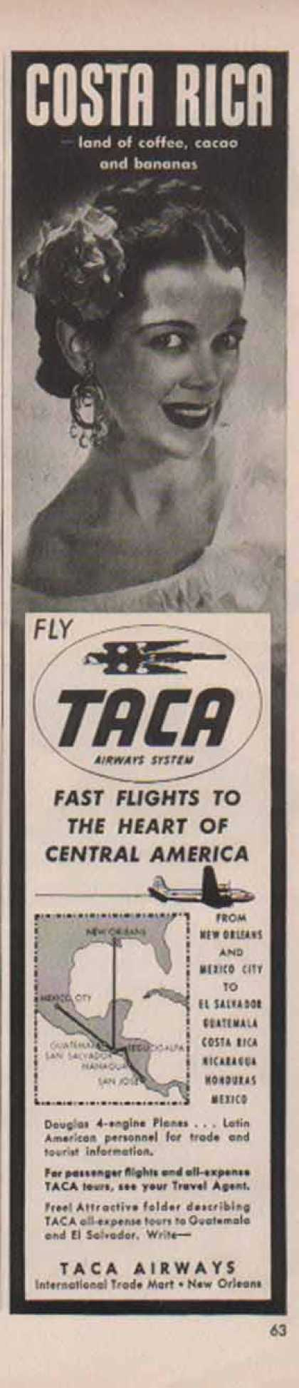 Fly Taca Airways Airlines – Costa Rica (1948)