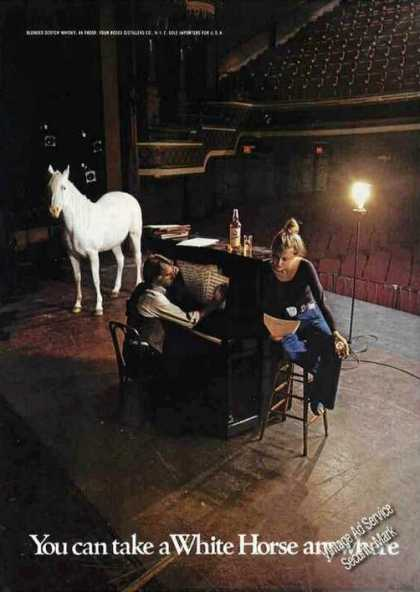 White Horse Inside Empty Theater Scotch (1974)