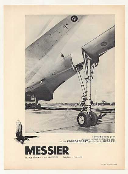 Messier Concorde SST Forward Landing Gear Photo (1969)