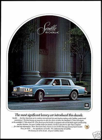 Cadillac Seville Significant Luxury Car (1979)